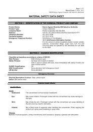 MATERIAL SAFETY DATA SHEET - Agtech.com.au