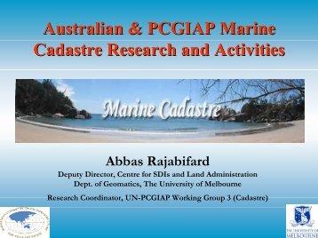 Progress on the ARC Marine Cadastre Project