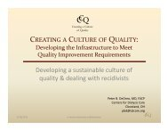 Creating a Culture of Quality - ESRD Network of New England
