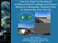 Use of an Algal Turf Scrubber ® to Reduce Nutrient Loadings and ...
