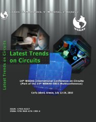 Latest trends on circuits - Wseas.us