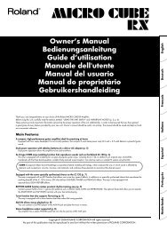 Owner's Manual Bedienungsanleitung Guide d'utilisation ... - Roland