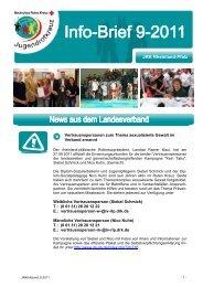 Info-Brief 9 - Jugendrotkreuz Rheinland-Pfalz