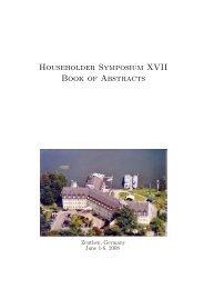 Householder Symposium XVII Book of Abstracts - Institut für ...
