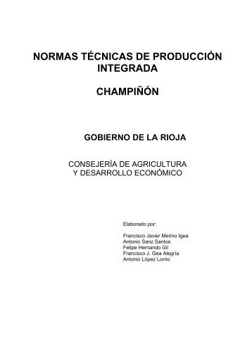 normas técnicas de producción integrada champiñón - Embrapa