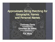 Approximate String Matching for Geographic Names and Personal ...
