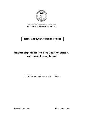 Radon signals in the Elat Granite pluton, southern Arava, Israel