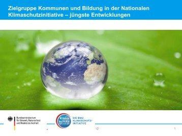 Zielgruppe Kommunen und Bildung in der Nationalen ... - Events
