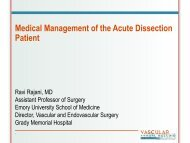 Medical Management of the Acute Dissection Patient - VascularWeb