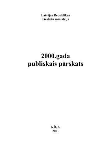 2000.gada publiskais pārskats - Tieslietu ministrija