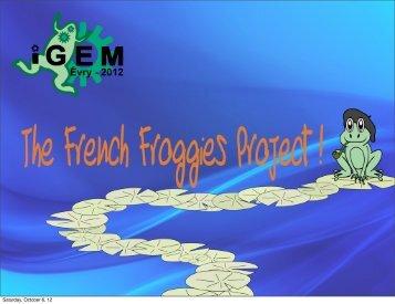 Evry Presentation - iGEM 2012