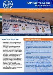 IOM-Sierra-Leone-Ebola-Response-Situation-Report-31-Jan-2015