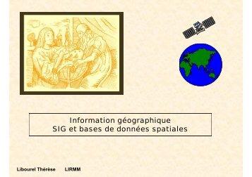 Les SGBD spatiaux - Site Sécurisé du LIRMM