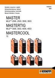Master Mastertig MastercooL - ARC-H Welding sro