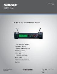 Shure SLX4L Logic User Guide Supplement (Korean)