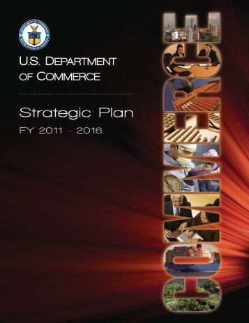 FY 2016 Strategic Plan (PDF) - Department of Commerce