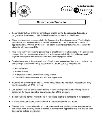 Construction Transition - Employer Registry