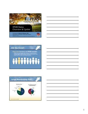 IPERS Status Overview & Update - Iowa League of Cities