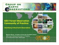 Forest CoP Presentation - Group on Earth Observations