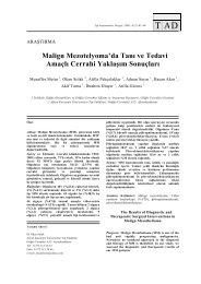 Malign Mezotelyoma'da Tanı ve Tedavi Amaçlı Cerrahi ... - tader.org