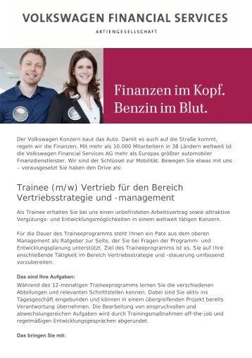 Trainee (m/w) Vertrieb für den Bereich ... - Career Service