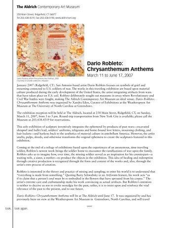 Dario Robleto - The Aldrich Contemporary Art Museum