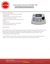 Commander Series® XTS-KBC-100 PRODUCT ... - XTS Corp