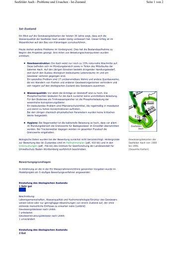 Ist-Zustand - Aktionsprogramm Seefelder Aach