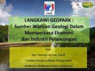 LANGKAWI GEOPARK : Sumber Warisan Geologi Dalam - UKM