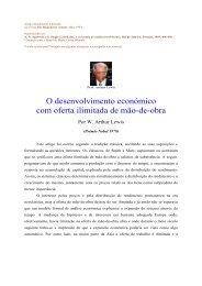 W. Arthur Lewis_O desenvolvimento com oferta ... - adelinotorres.com