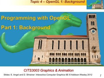 Programming with OpenGL Part 1: Background - Undergraduate