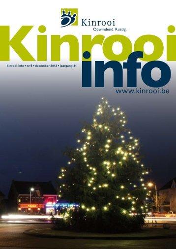 kinrooi-info • nr 5 • december 2012 • jaargang 31 - Gemeente Kinrooi