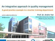 Andre Vyt, An integrative approach in quality management - EOQ