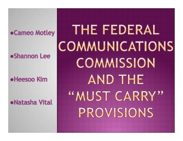 The FCC is a substantial contributor as what - Courses