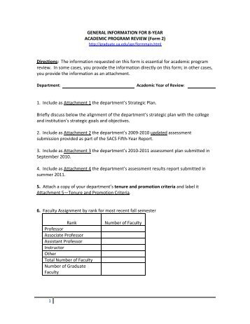 1 GENERAL INFORMATION FOR 8-YEAR ACADEMIC PROGRAM ...