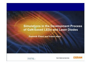Simulations in the Development Process of GaN-based LEDs and ...
