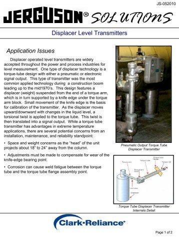 Displacer Level Transmitters - Ampmech.com