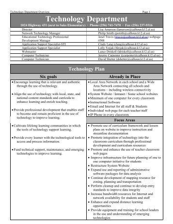 Technology Department - Calhoun County Schools