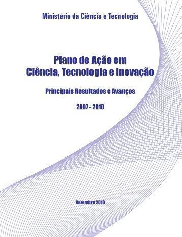 Plano de Ação em Ciência, Tecnologia e Inovação