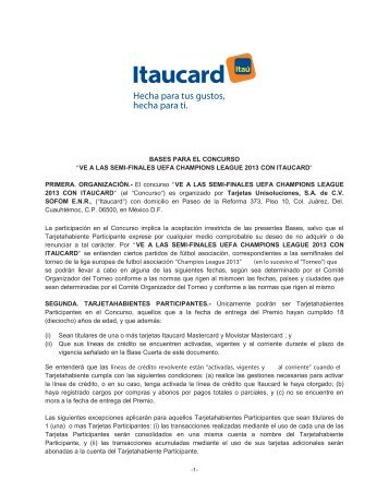 Bases Champions - Itaucard
