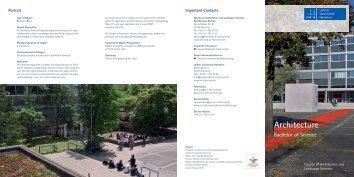 Architecture B.Sc. - Leibniz Universität Hannover