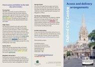 Oxford city centre deliveries (pdf format, 404Kb) - Oxfordshire ...