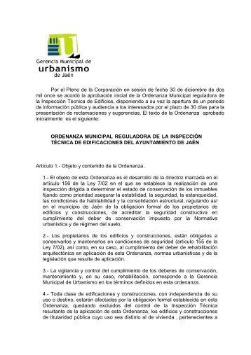 ORDENANZA ITE PARA WEB - Ayuntamiento de Jaén