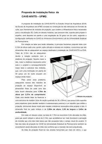 Proposta de instalação física da CAVE-AIVITS – UFMG - Escola de ...