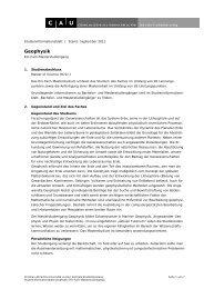 Geophysik, Master (1-Fach) - Zentrale Studienberatung - Christian ...
