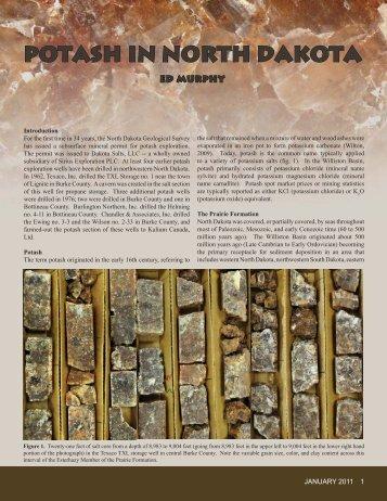 Potash in North Dakota - Department of Mineral Resources