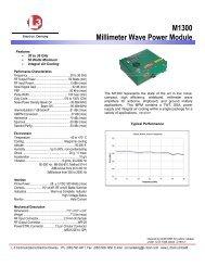 M1300 Millimeter Wave Power Module - L-3 Communications
