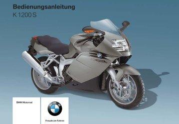 Bedienungsanleitung K 1200 S - BMW-K-Forum.de