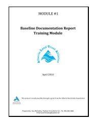 MODULE #1 Baseline Documentation Report Training Module