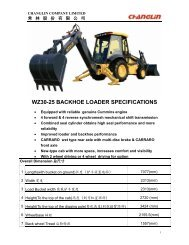 WZ30-25 BACKHOE LOADER SPECIFICATIONS - Lectura SPECS